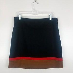 Ann Taylor LOFT Black Red Camel Pencil Skirt